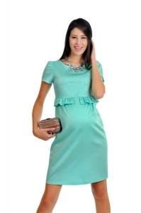 پیراهن بارداری سبز کم رنگ Code E119
