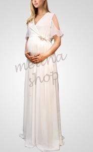 پیراهن ماکسی حریر بارداری Code ED248-3